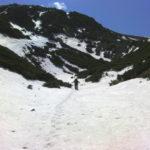 残雪 踏み跡