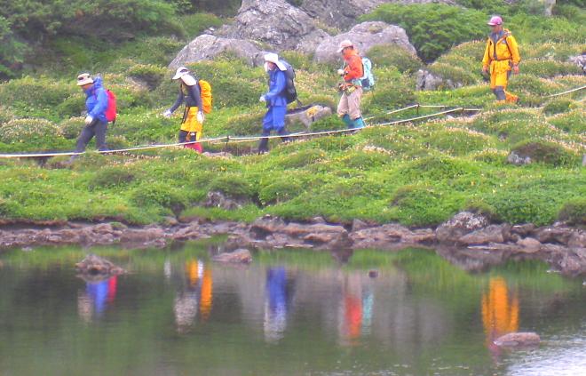 トムラウシ山 日本庭園 天沼