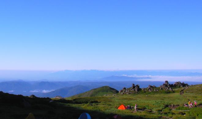 トムラウシ山から見た景色 雲海