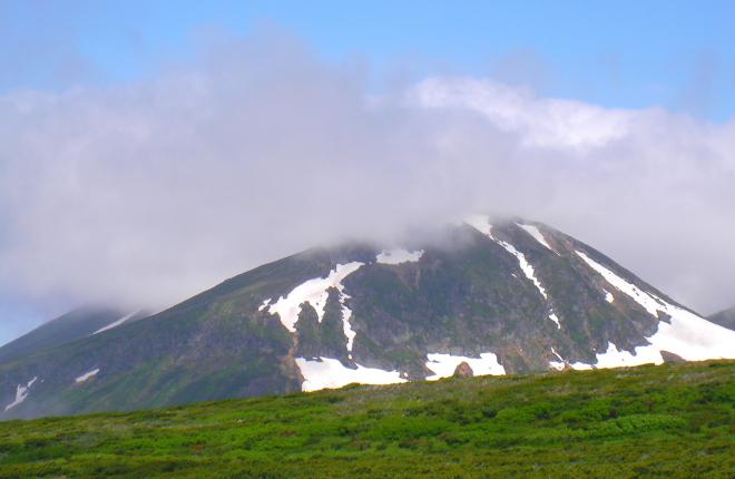 白雲岳にかかる雲