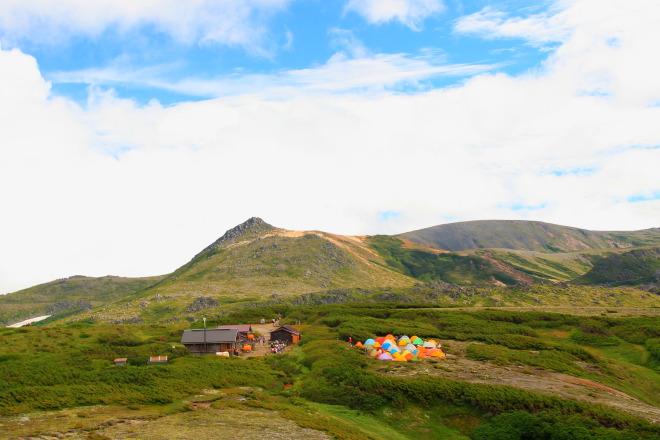 黒岳 石室 野営指定地 キャンプ場