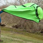 悪天候時のテント設営
