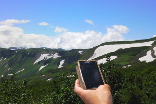 登山 スマホ GPS