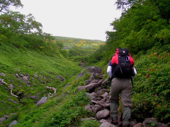 前トム平への登り