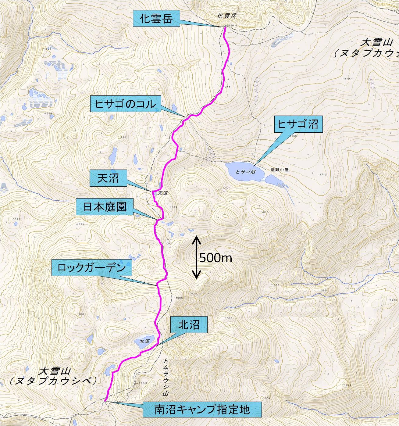 化雲岳マップ