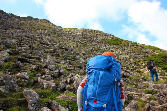 ニペソツ山 最後の登り