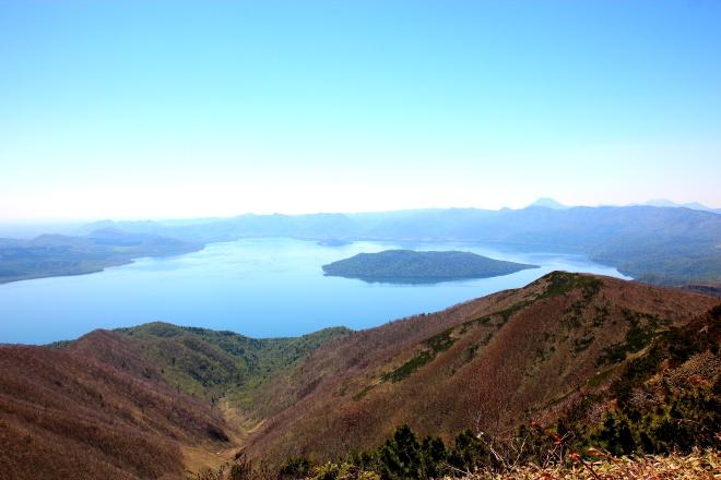 藻琴山山頂からの景色