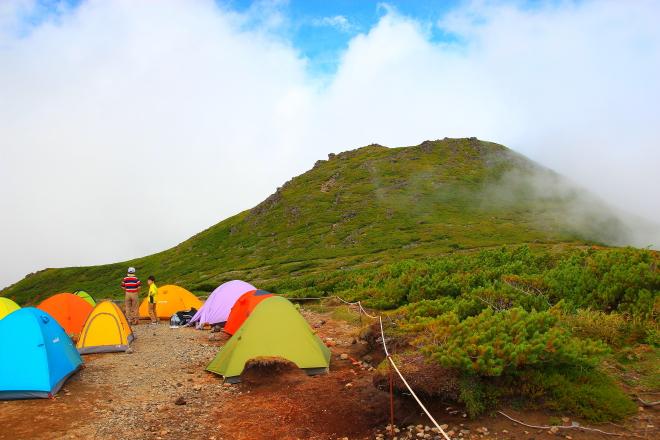 野営場から見た桂月岳