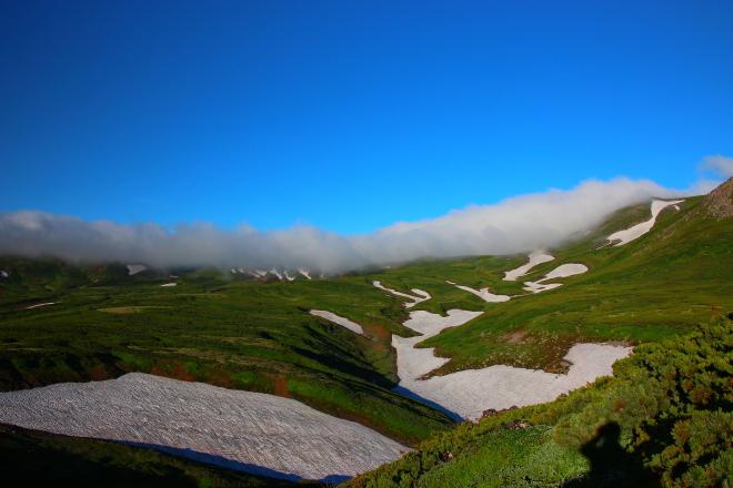 桂月岳から見た北鎮岳