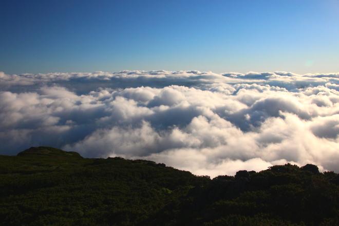桂月岳から見た雲海