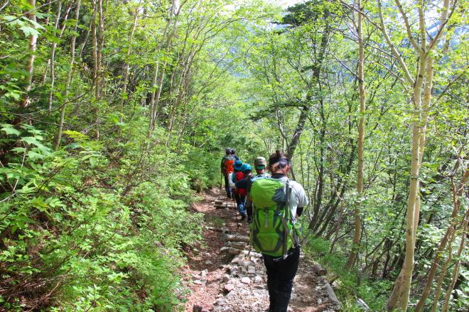 緑岳の登山道